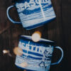 RISE UP COFFEE ROASTERS – 9 cm mug – prussian blue (5)