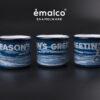 RISE UP COFFEE ROASTERS – 9 cm mug – prussian blue (1)